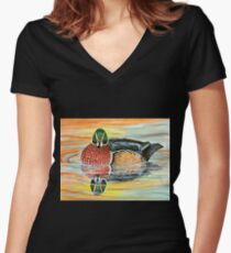 Woodie Women's Fitted V-Neck T-Shirt