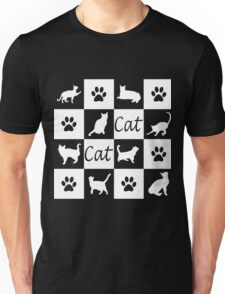 Chess board cats Unisex T-Shirt
