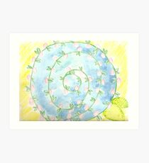 watercolor pinwheel  Art Print