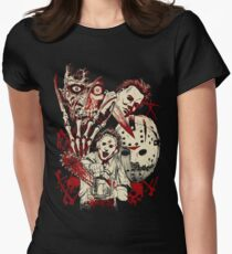 Horror guys Womens Fitted T-Shirt