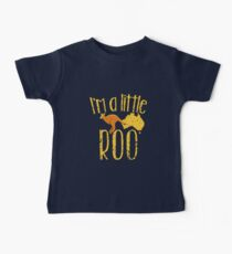 I'm a little ROO cute kangaroo with Australian map distressed version Baby Tee