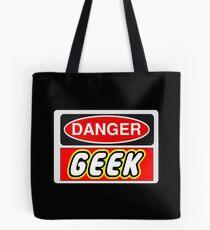 Danger Geek Sign Tote Bag