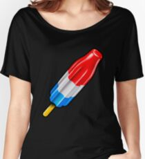 Red White and Blue Rocket Pop Popsicle Shirt Women's Relaxed Fit T-Shirt