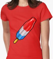 Red White and Blue Rocket Pop Popsicle Shirt Womens Fitted T-Shirt