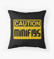Caution Minifigs Sign Throw Pillow