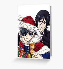holiday black butler Greeting Card