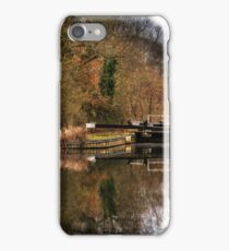 Above Sulhamstead Lock On The Kennet & Avon iPhone Case/Skin