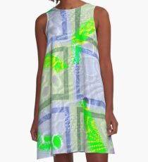 Collage with paper cell effect A-Line Dress