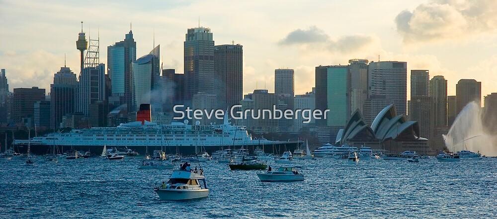 Queen Elizabeth II - Sydney Harbour by Steve Grunberger