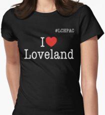 I heart Loveland #LCHPAC Black t-shirt Women's Fitted T-Shirt