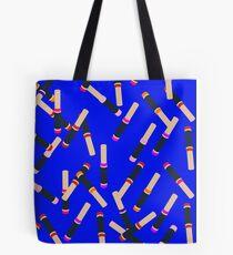 Blue Lipstick Tote Bag