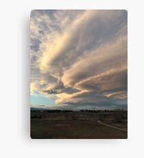 thunderstorm clouds Canvas Print