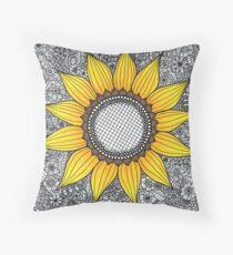 Sonnenblume-Muster Kissen
