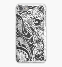 crazy black and white iPhone Case/Skin