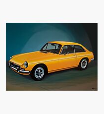 MGB GT Painting Photographic Print
