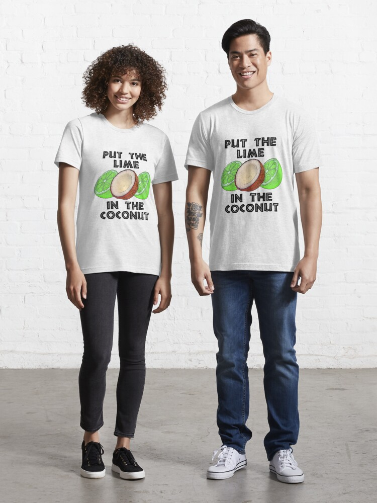 Put The Lime in The Coconut and Drink It All up T-Shirt Neon Red Orange XL