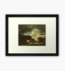 Jules Dupre(French, )The Passing Storm Framed Print