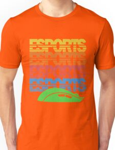 Cascading Vintage Esports Pattern for Gamers Unisex T-Shirt