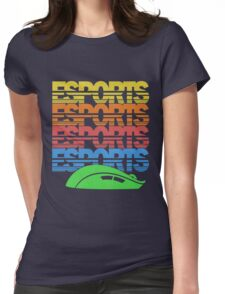 Cascading Vintage Esports Pattern for Gamers Womens Fitted T-Shirt