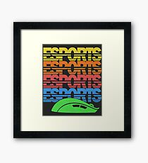 Cascading Vintage Esports Pattern for Gamers Framed Print