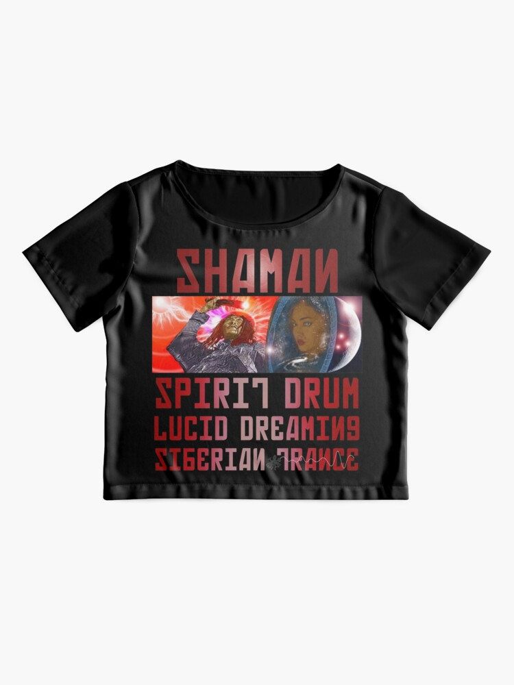 Alternate view of Shaman Spirit Drum Siberian Trance Chiffon Top