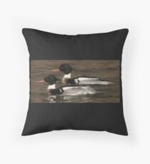 Red-Breasted Merganser's Throw Pillow