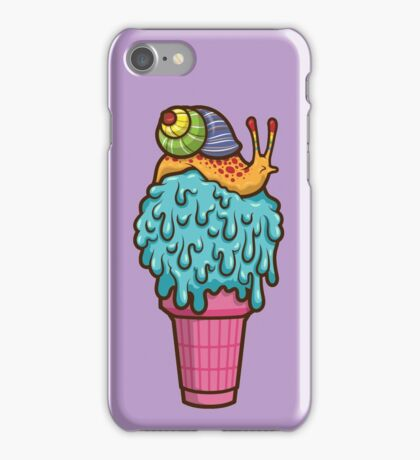 Crazy Snail Cone iPhone Case/Skin
