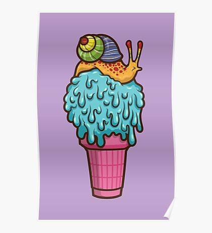 Crazy Snail Cone Poster