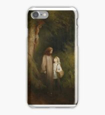 Karl Stuhlmüller, MARKET IN FRONT OF A TOWN GATE IN WINTER, iPhone Case/Skin