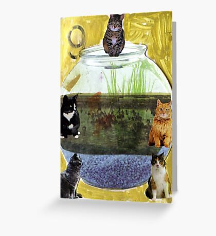 Thank Gawd Cats Can't Swim Greeting Card
