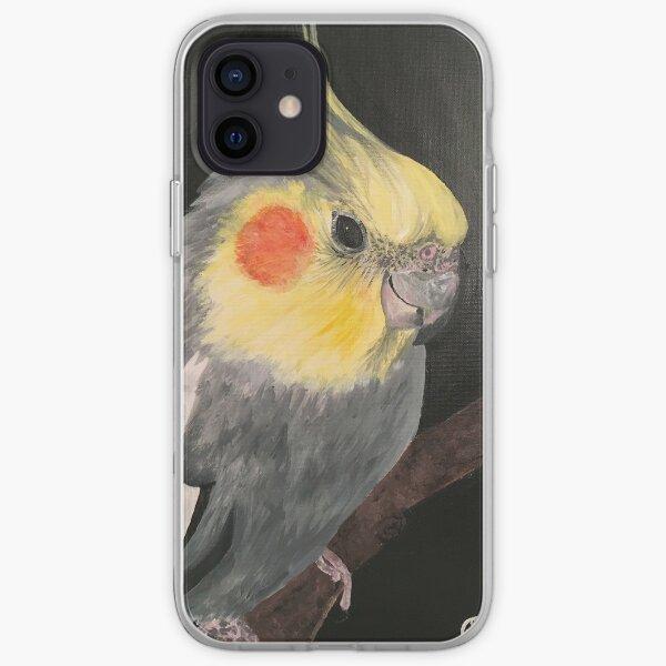 Cockatiel on Black iPhone Soft Case