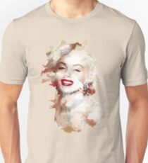 Paint-Stroked Portrait of Classic Film Actress and Model, Marilyn Monroe Unisex T-Shirt