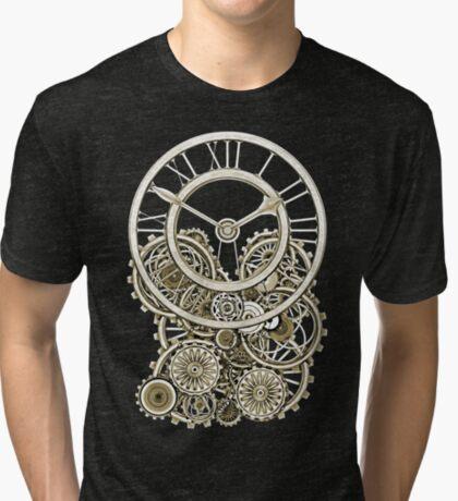 Stylish Vintage Steampunk Timepiece Vintage Style Steampunk T-Shirts Tri-blend T-Shirt