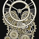 Stylish Vintage Steampunk Timepiece Vintage Style Steampunk T-Shirts by Steve Crompton