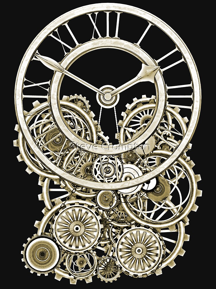 Stylish Vintage Steampunk Timepiece Vintage Style Steampunk T-Shirts by SC001