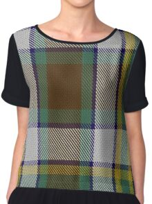 Northern Ontario District Tartan  Chiffon Top
