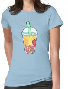 Bubble Tea- Mango! Womens Fitted T-Shirt