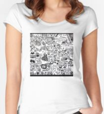 Tongue Tab Women's Fitted Scoop T-Shirt