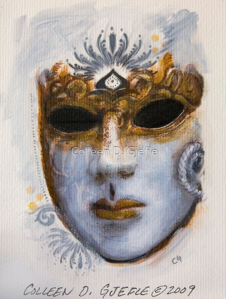Lady Winter Mask by Colleen D. Gjefle