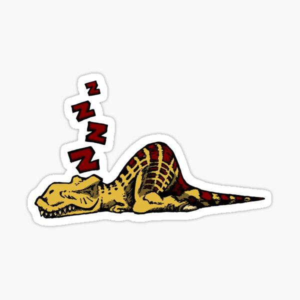 Sleepy Tyrannosaur Sticker