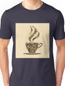 Coffee Cup Made From Coffee Icons Unisex T-Shirt