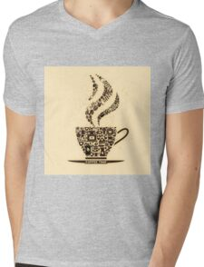 Coffee Cup Made From Coffee Icons Mens V-Neck T-Shirt