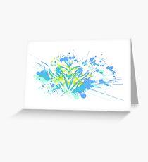 Heart Paint Splatter Greeting Card