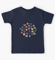 Colorful Lovely Patterns  Kids Tee