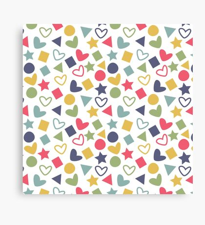 Colorful Lovely Patterns  Canvas Print