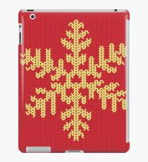 Knitted Yellow Snowflake iPad Case/Skin