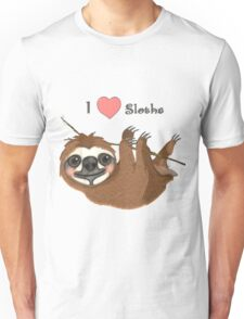 I Heart Sloths Baby Animals Unisex T-Shirt