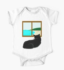 Landscape and cat One Piece - Short Sleeve