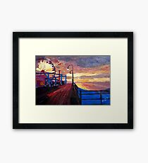 Santa Monica Pier at Dawn Framed Print