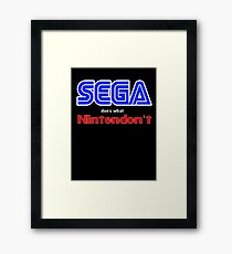 SEGA Does What Nintendon't Framed Print